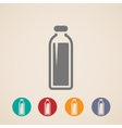 Bottle of milk or another beverage icons vector