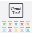 Thank you sign icon customer service symbol vector