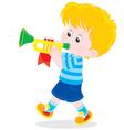 Little trumpeter vector