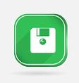 Floppy diskette color square icon vector