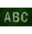 Set of bokeh alphabet and symbols vector