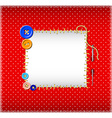 Polka dot pattern with stitched buttons vector