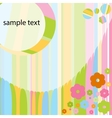 Card for baby girl with colorful flowers vector