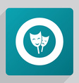Flat theater icon vector
