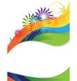 Rainbow flower frame vector