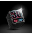 3d 3d black vector