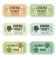 Set of cinema tickets vector