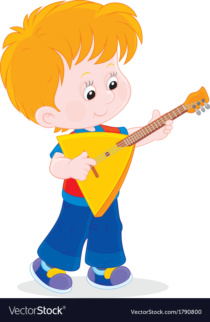 Little balalaika player vector | Price: 1 Credit (USD $1)
