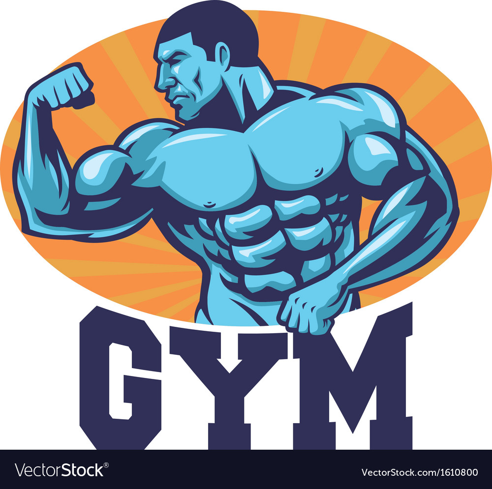 Muscle bodybuilder suitable for gym mascot vector | Price: 3 Credit (USD $3)
