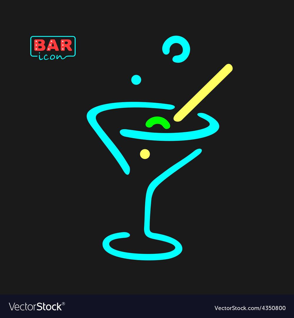 Neon glass symbol vector | Price: 1 Credit (USD $1)