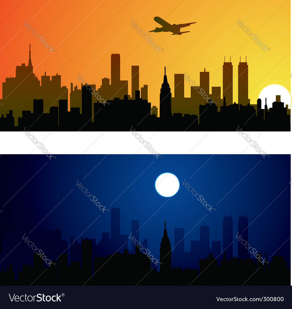 Two variants of city ba vector | Price: 1 Credit (USD $1)