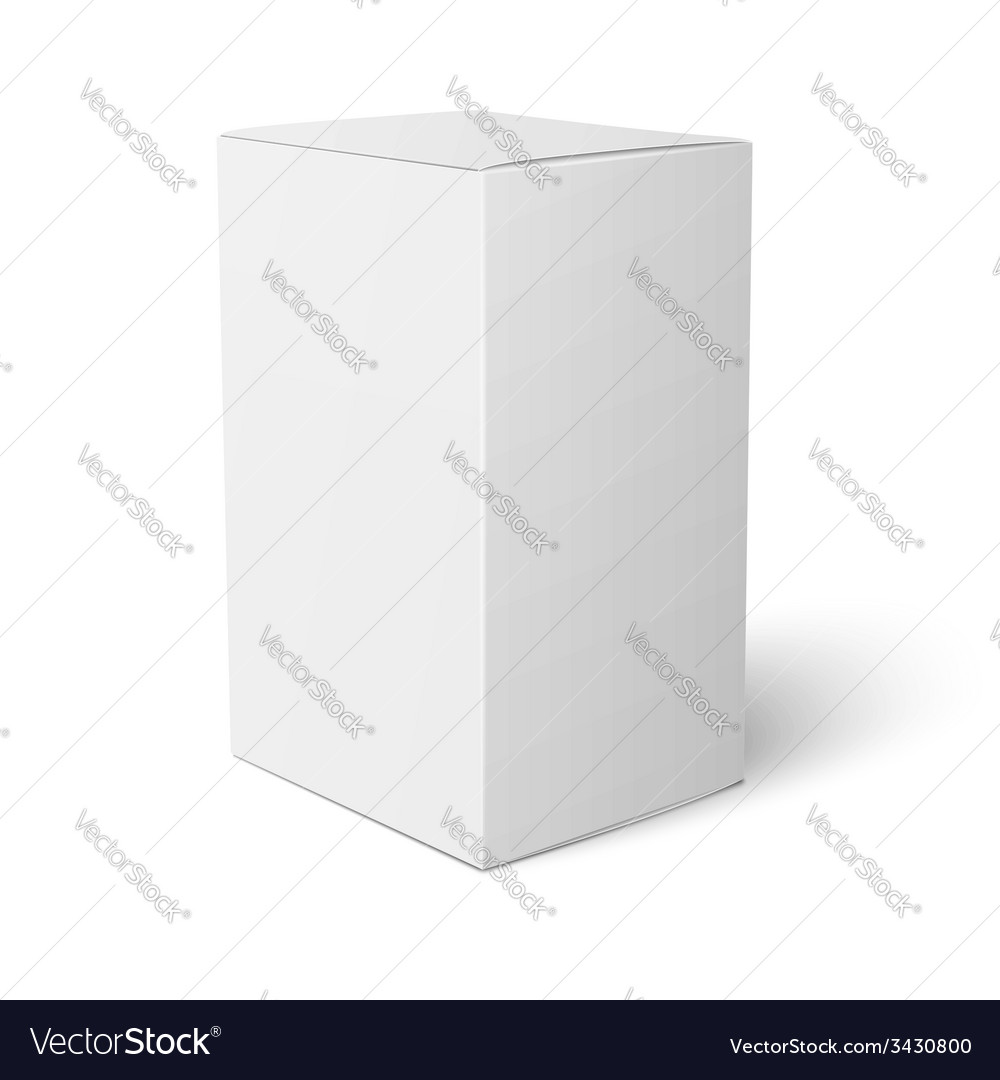 White paper box template vector | Price: 1 Credit (USD $1)