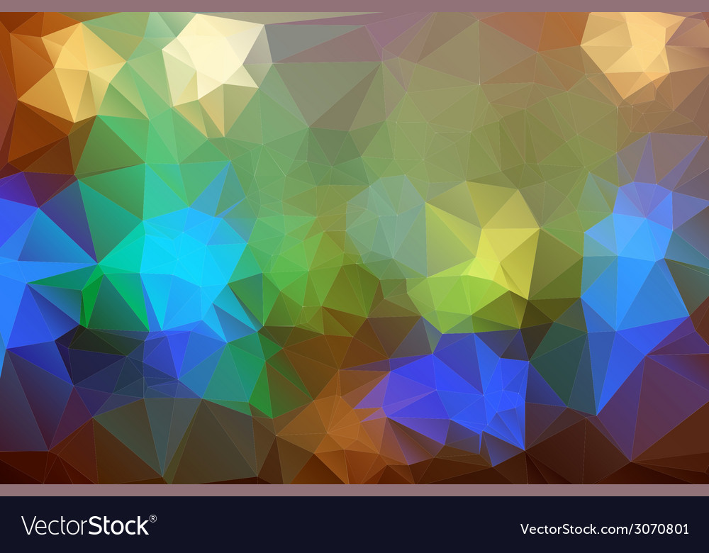 Abstract colorful triangle background for design vector | Price: 1 Credit (USD $1)