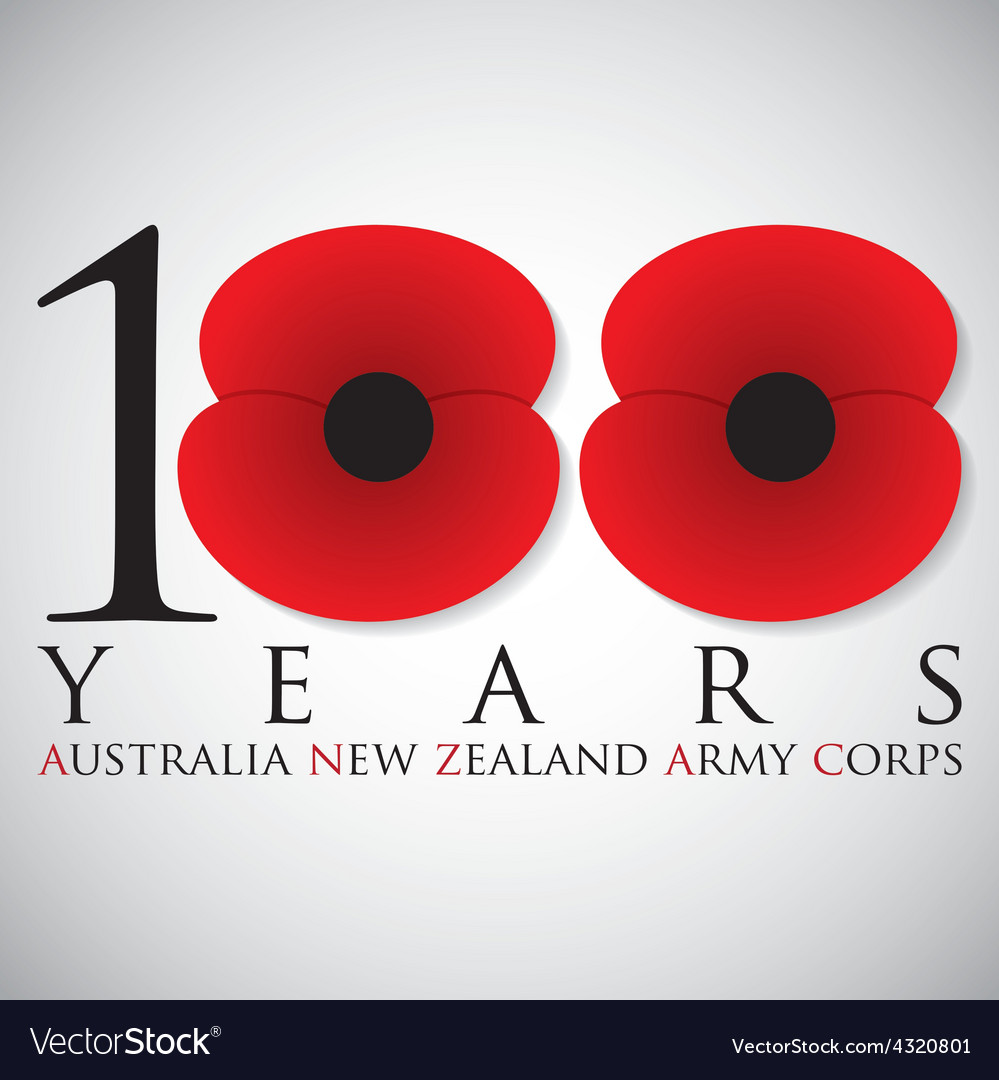 Anzac australia new zealand army corps day card in vector   Price: 1 Credit (USD $1)