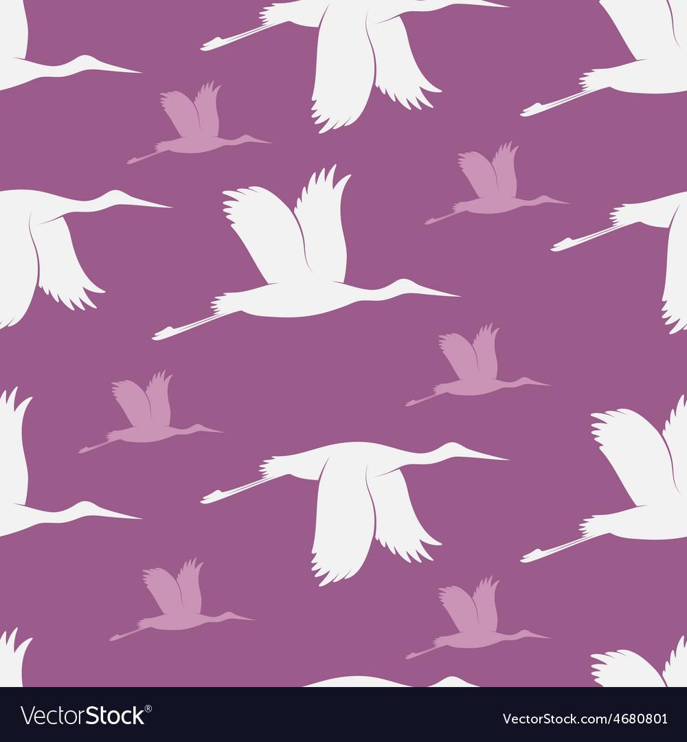 Baby shower stork pattern vector   Price: 1 Credit (USD $1)