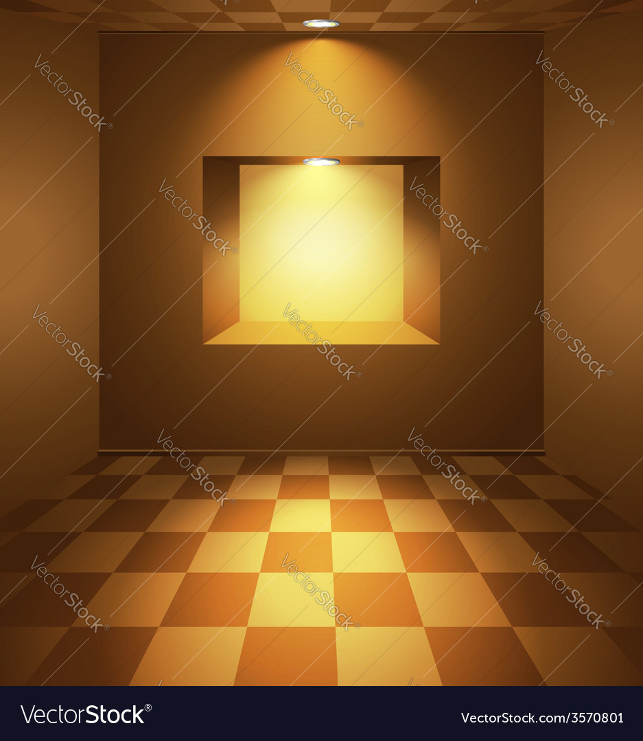 Brown room with niche vector | Price: 1 Credit (USD $1)