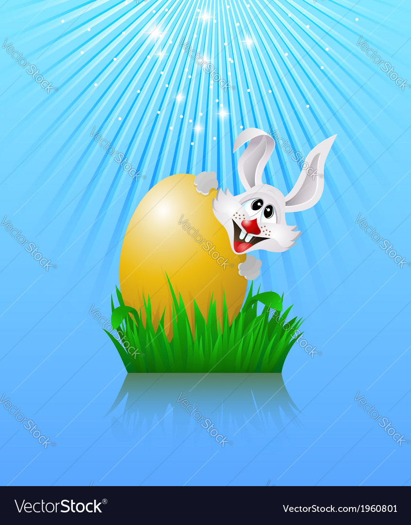 Bunny and easter egg vector | Price: 1 Credit (USD $1)
