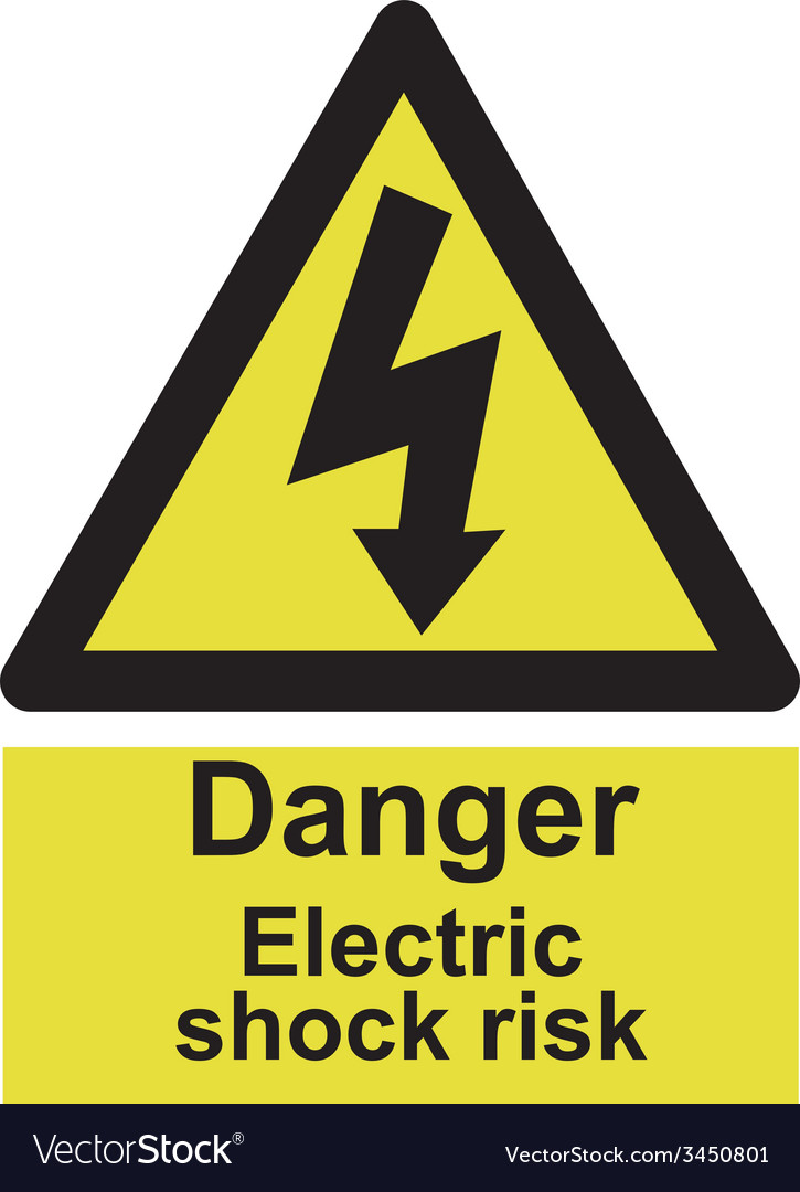 Danger electrocution risk safety sign vector   Price: 1 Credit (USD $1)