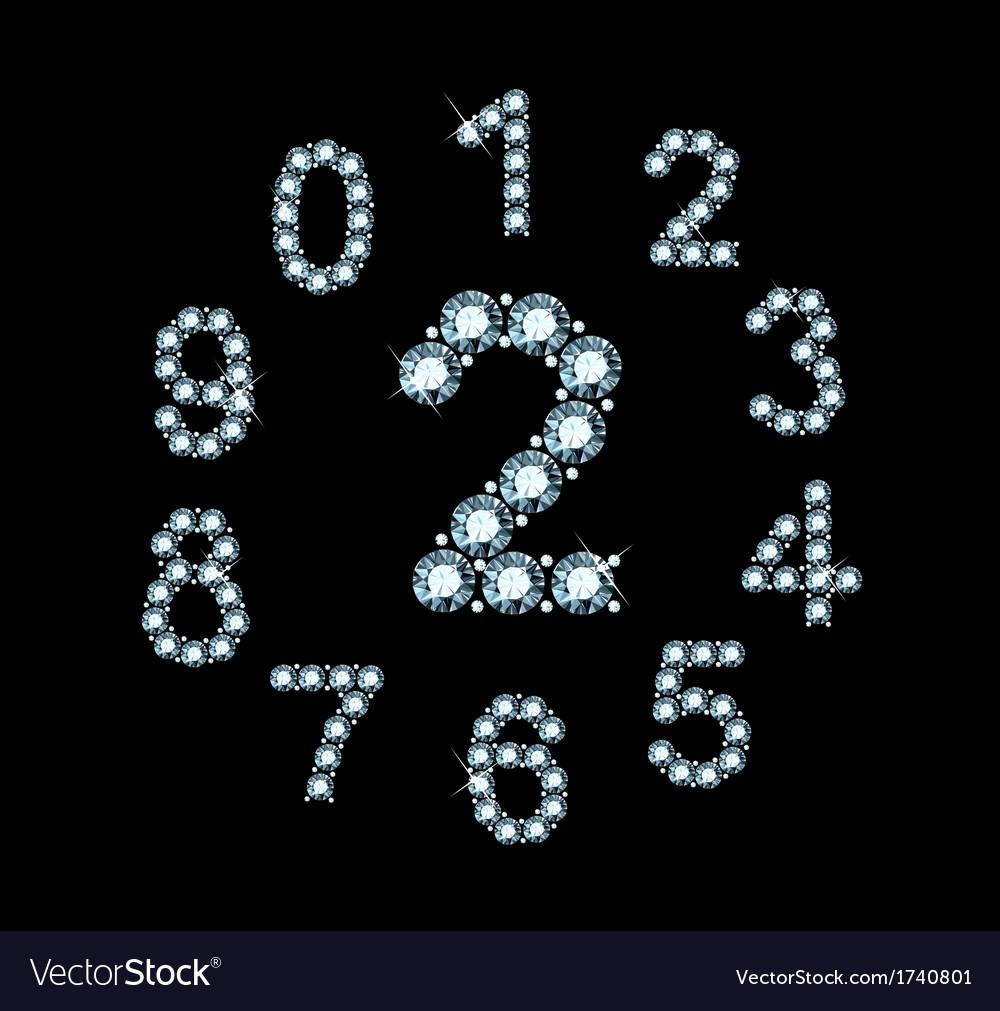 Diamond numbers vector | Price: 1 Credit (USD $1)