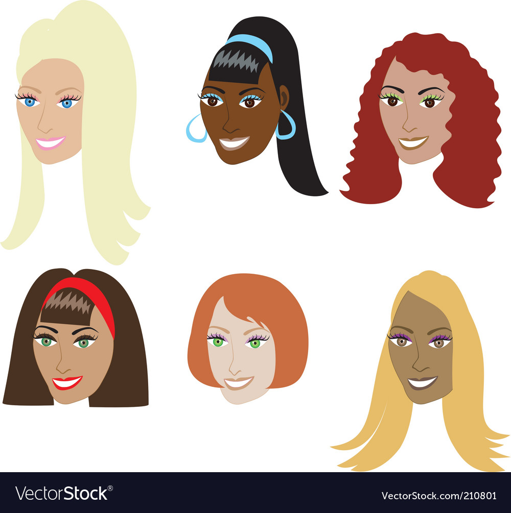 Fake hair styles vector | Price: 1 Credit (USD $1)