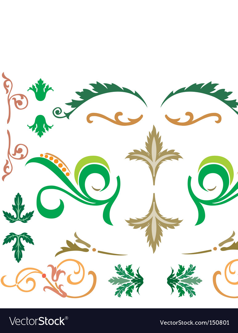 Floral design elements vector   Price: 1 Credit (USD $1)