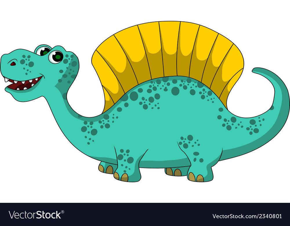 Funny dinosaur cartoon vector | Price: 1 Credit (USD $1)