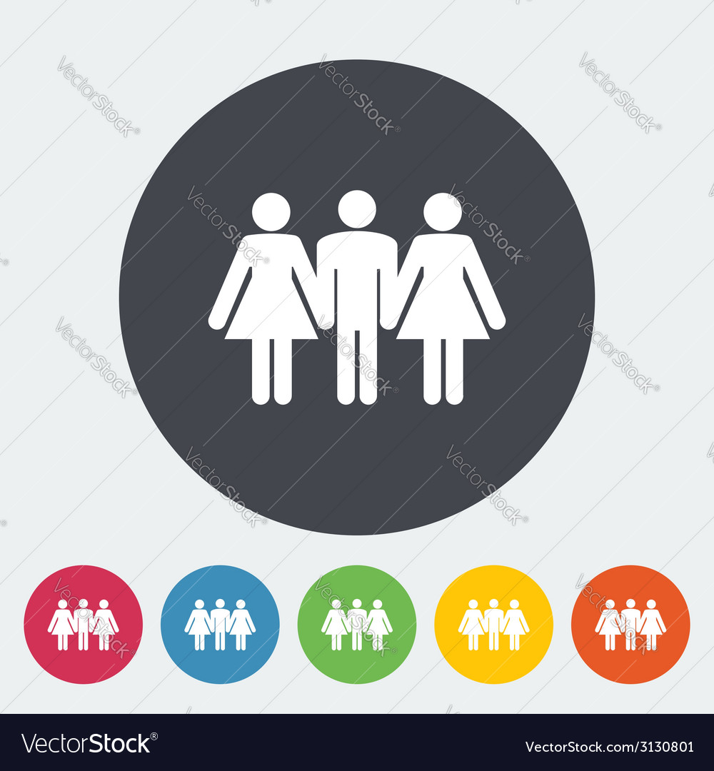 Group sex sign vector | Price: 1 Credit (USD $1)