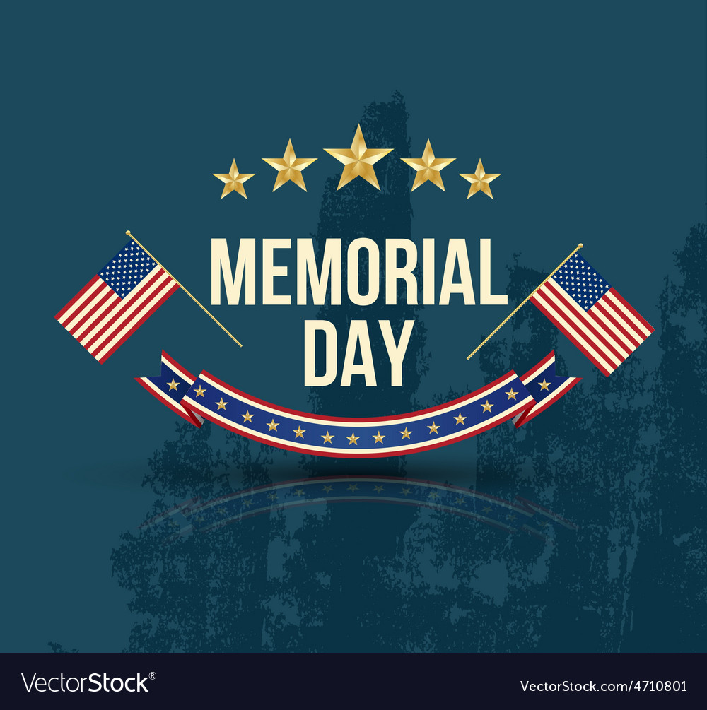 Happy memorial day with texture vector | Price: 1 Credit (USD $1)
