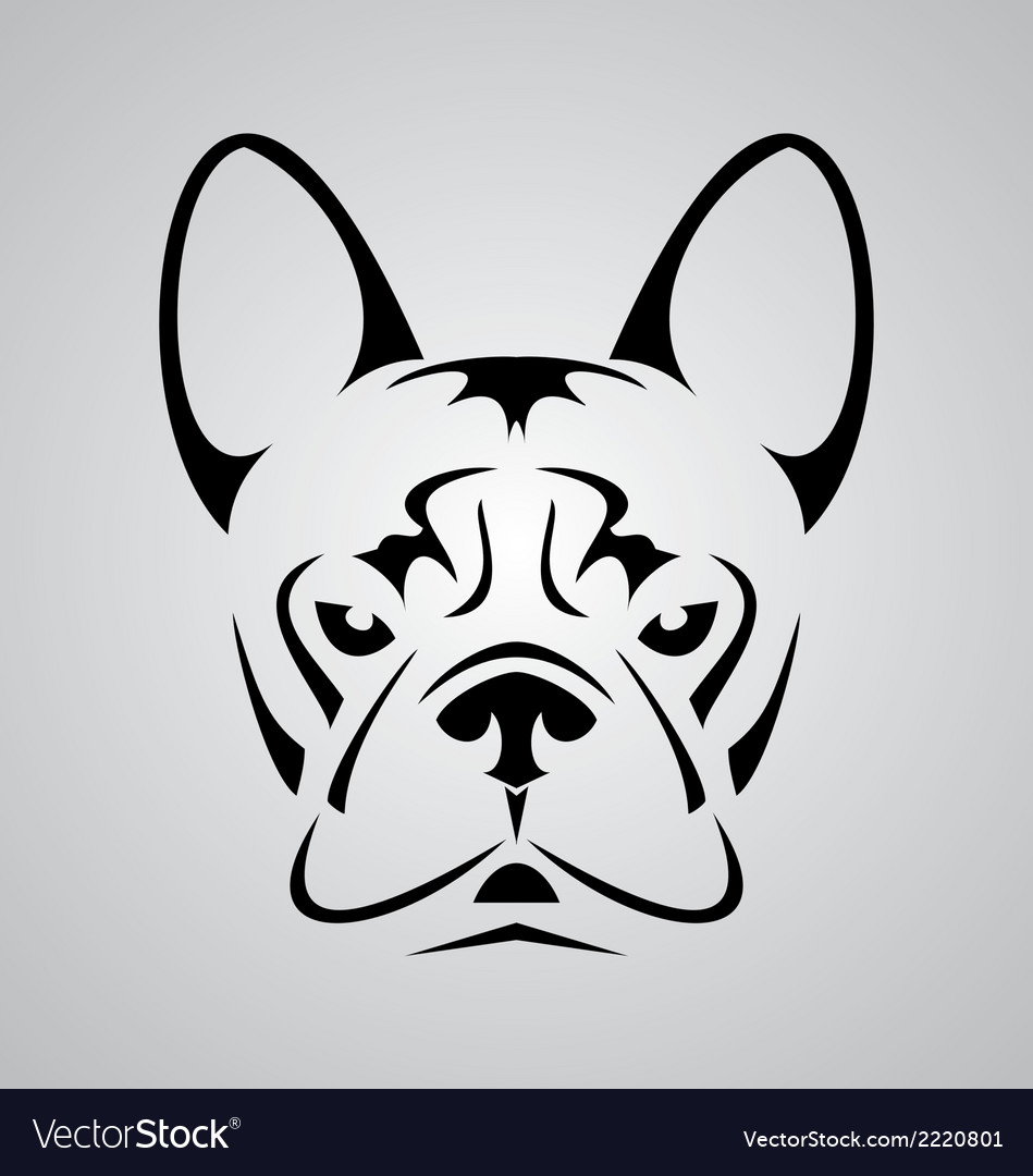 Little dog face tribal vector | Price: 1 Credit (USD $1)