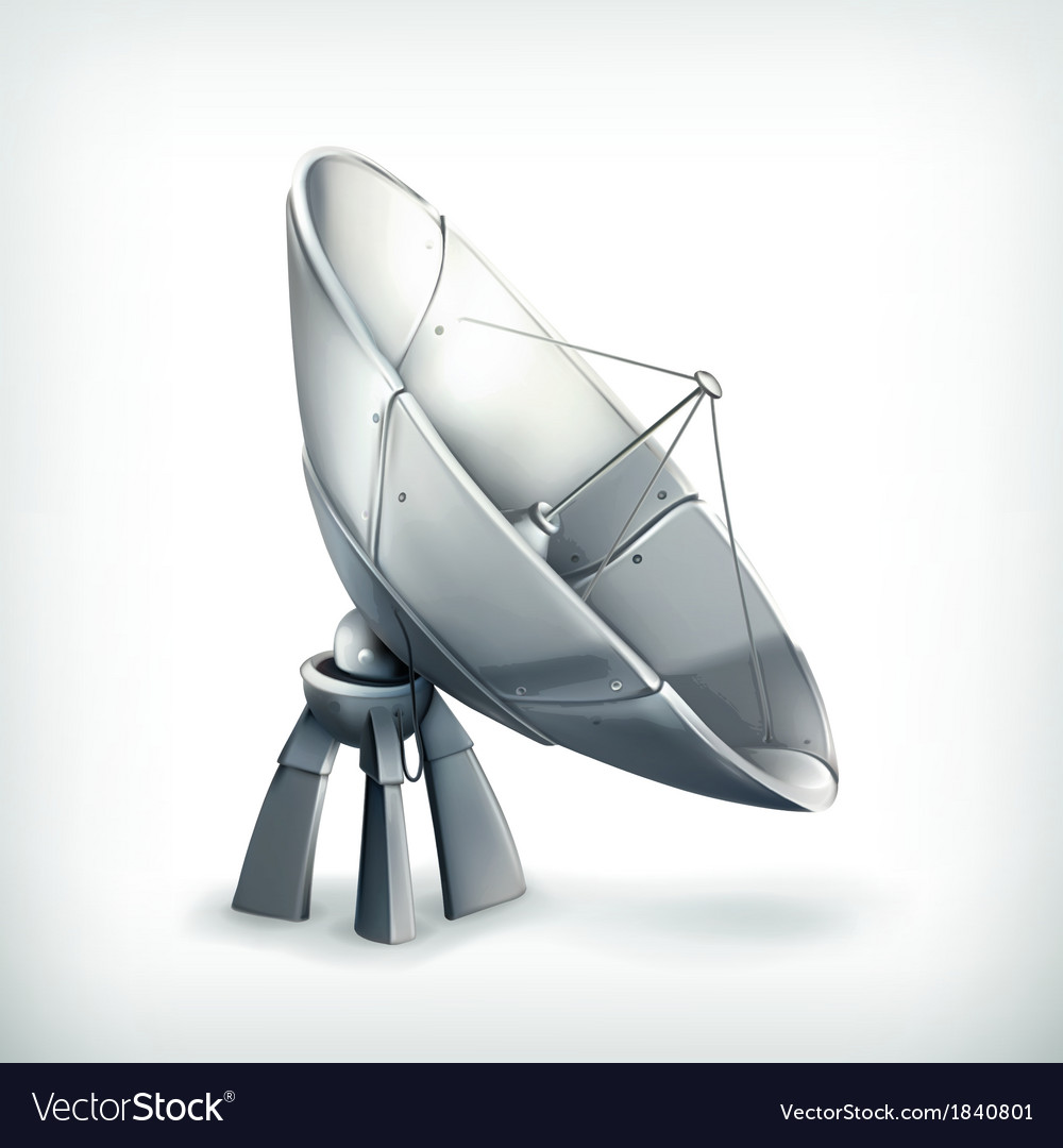 Parabolic antenna icon vector | Price: 3 Credit (USD $3)