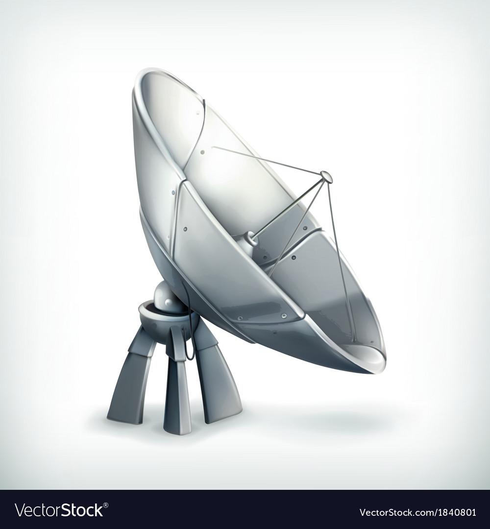 Parabolic antenna icon vector | Price: 3 Credit (USD $3)