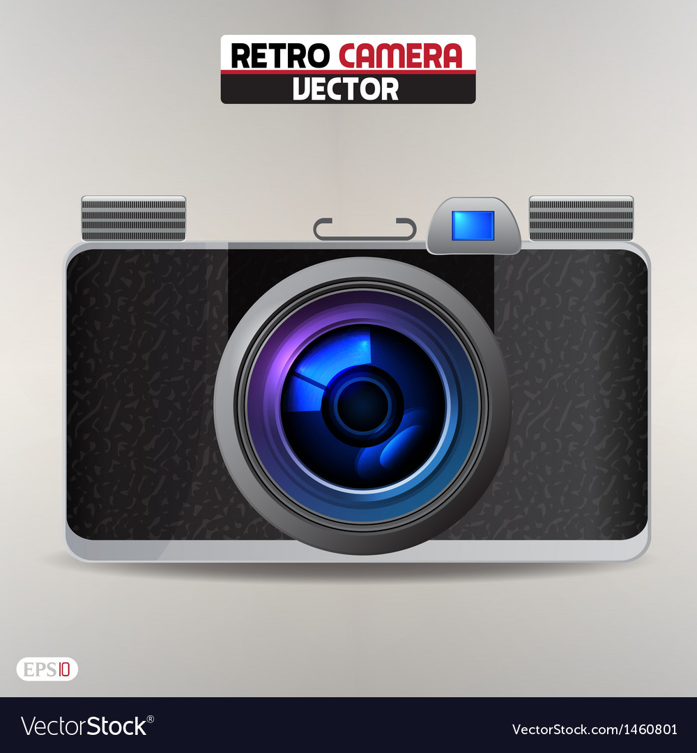 Retro camera vector | Price: 1 Credit (USD $1)