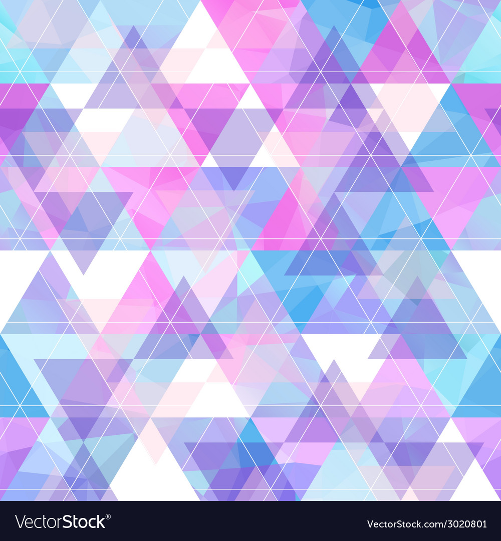 Seamless bright geometric retro background vector | Price: 1 Credit (USD $1)