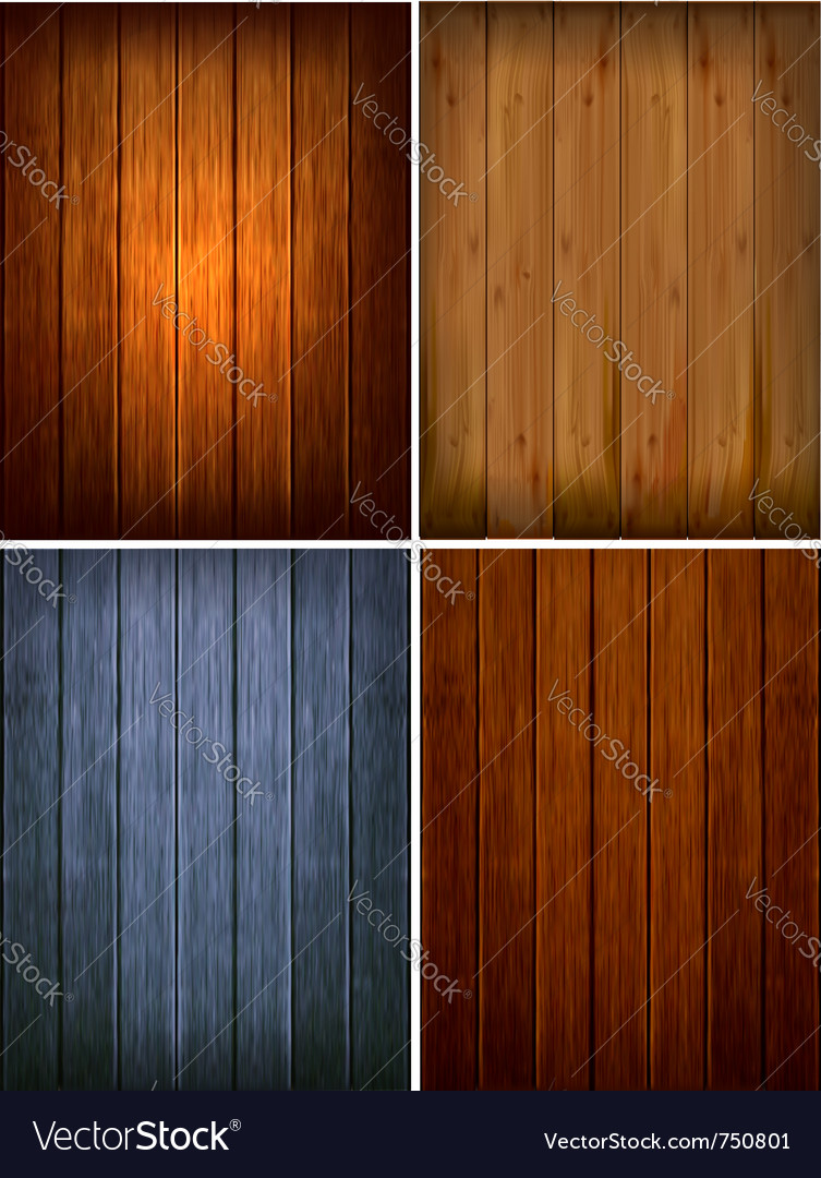 Set of wood backgrounds vector | Price: 1 Credit (USD $1)