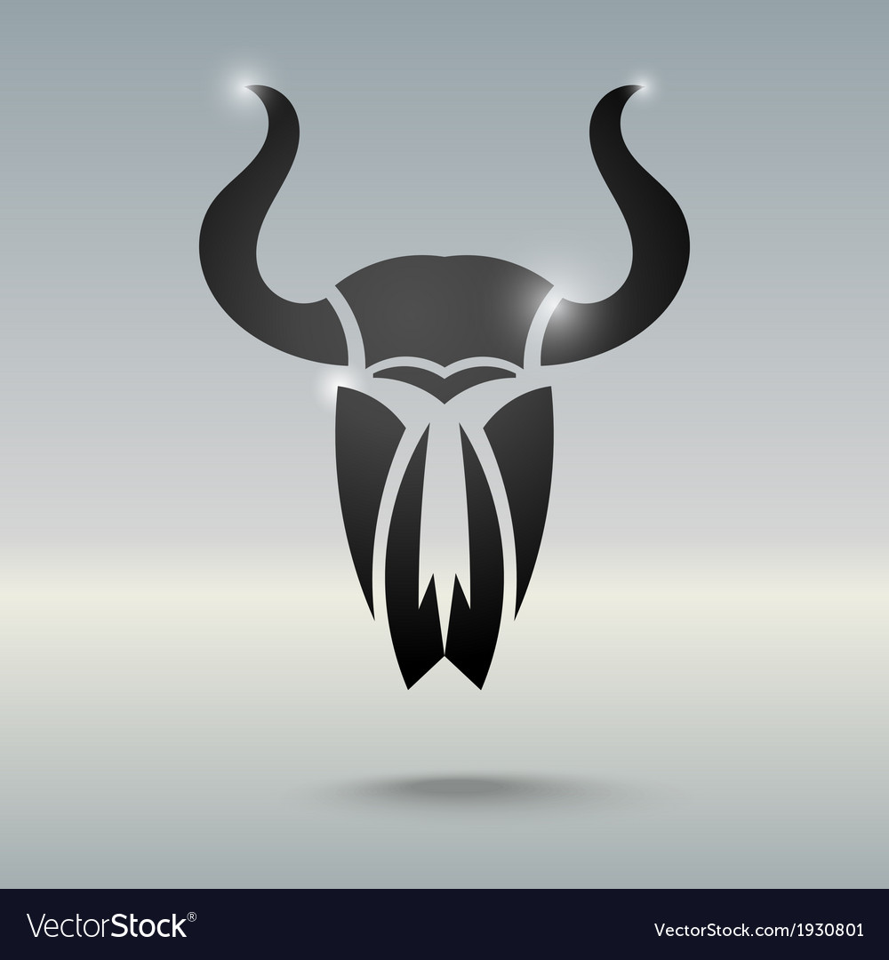 Tattoo stylized skull of a bull vector | Price: 1 Credit (USD $1)