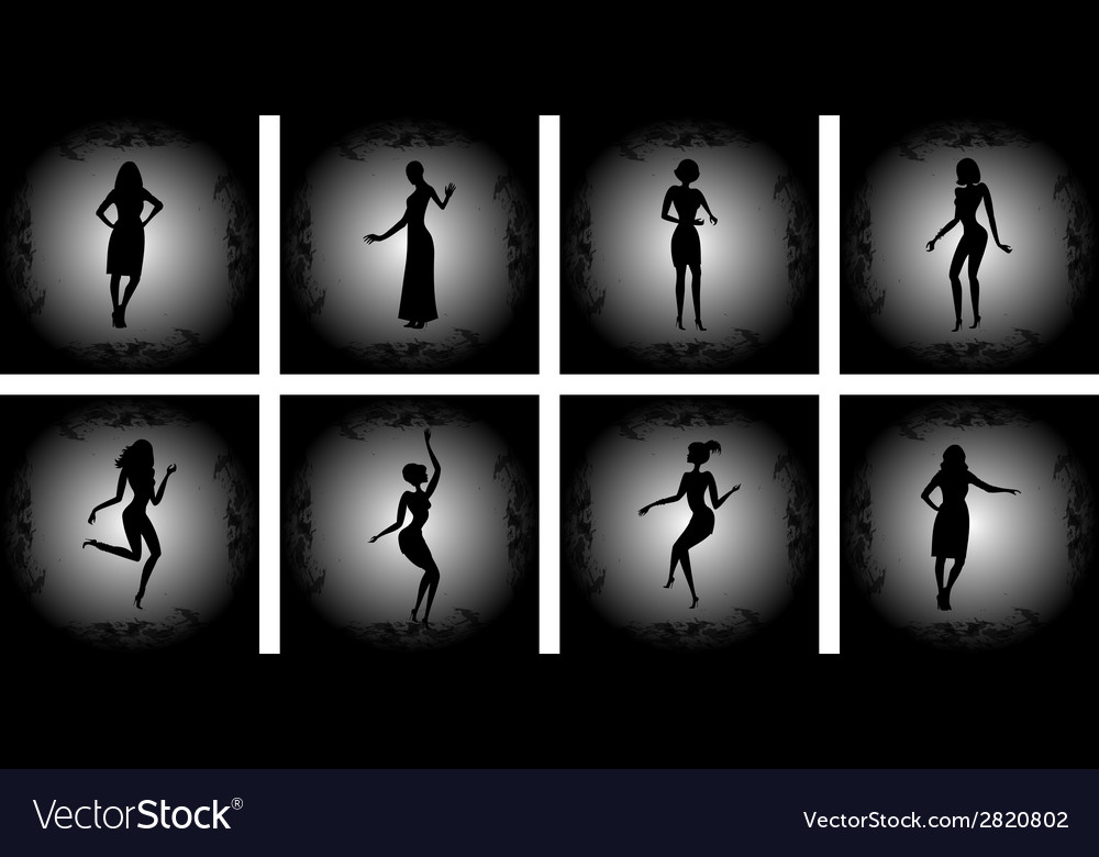 Abstract female silhouettes with background vector | Price: 1 Credit (USD $1)