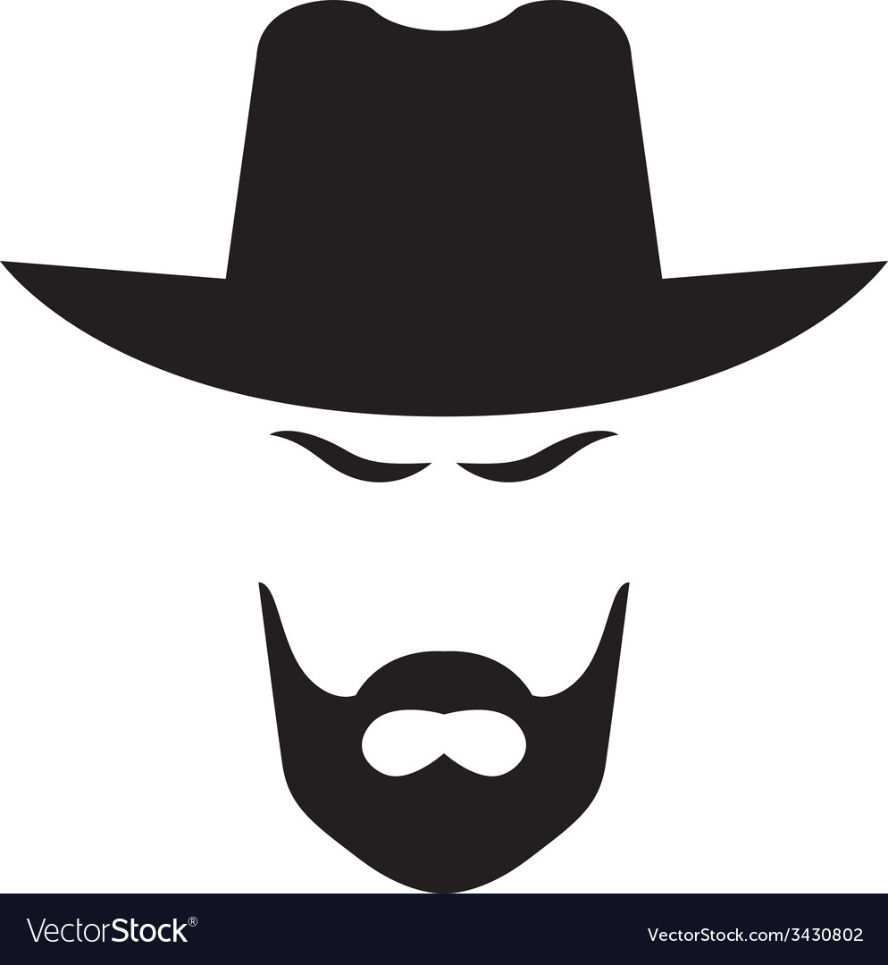 American cowboy head vector | Price: 1 Credit (USD $1)