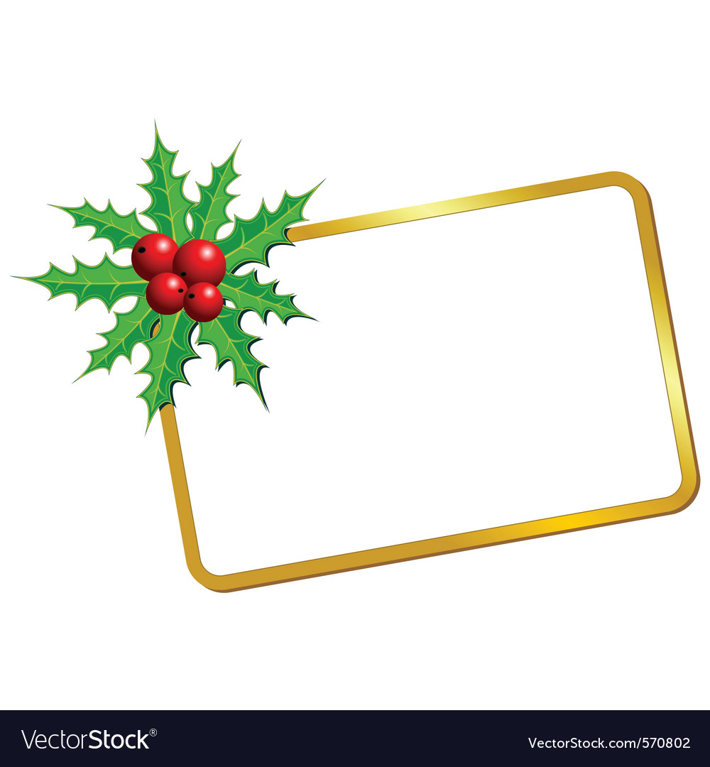 Christmas blank frame vector | Price: 1 Credit (USD $1)