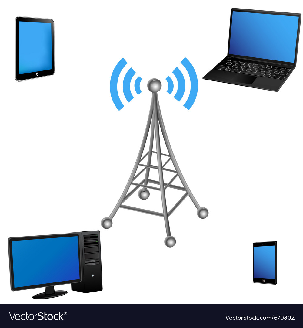Communication antenna and electric device vector | Price: 1 Credit (USD $1)