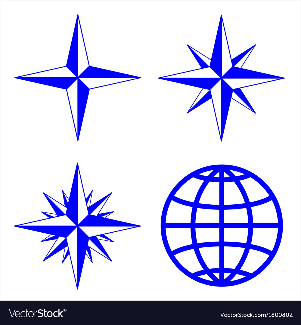 The emblem of the compass rose vector | Price: 1 Credit (USD $1)