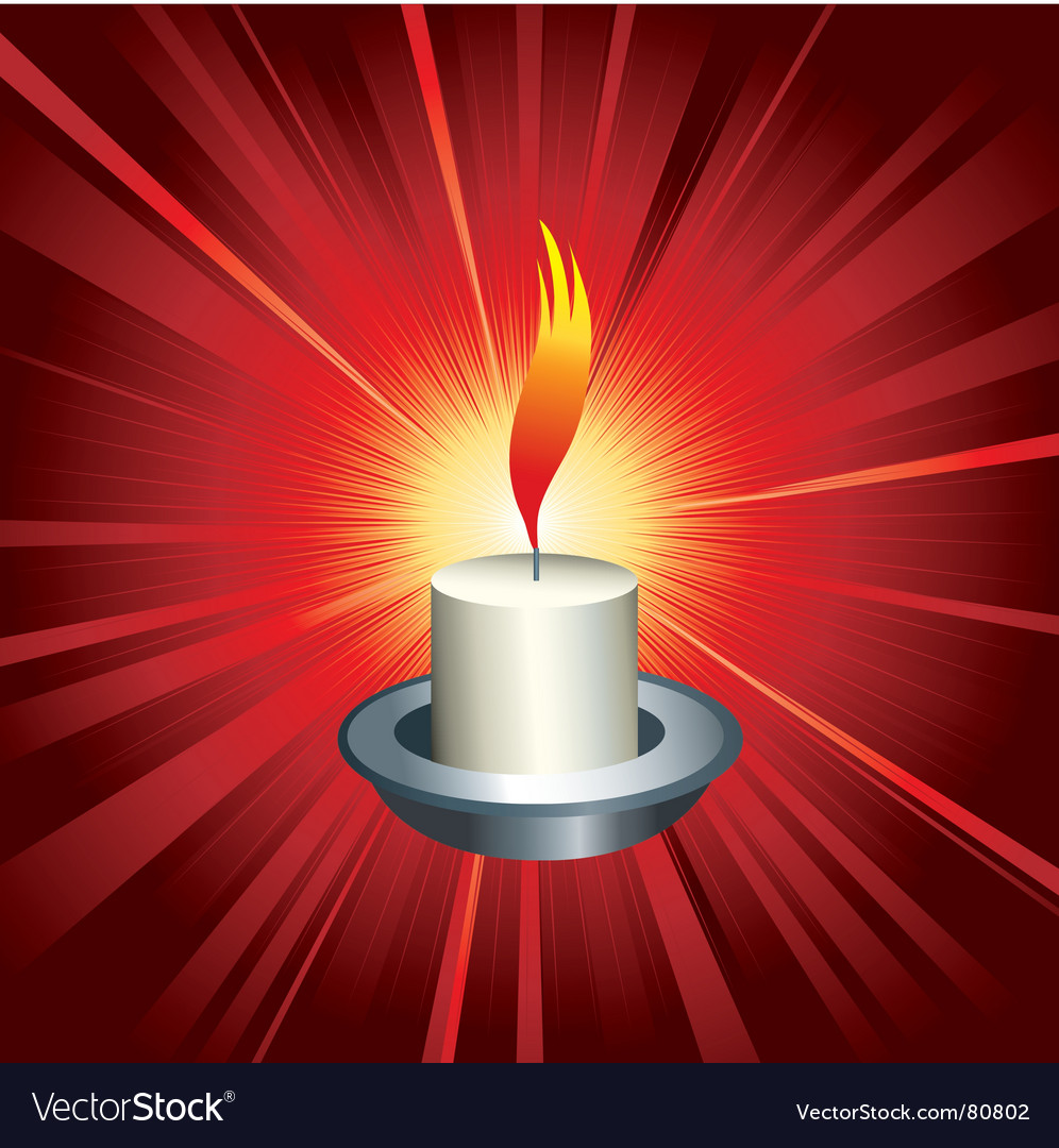 Flaming candle vector | Price: 1 Credit (USD $1)