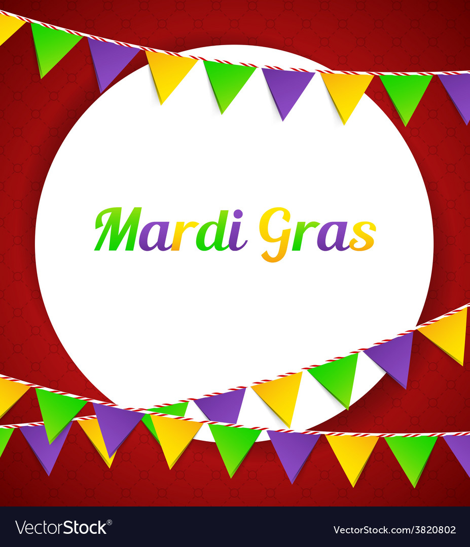 Mardi gras background with flags vector | Price: 1 Credit (USD $1)