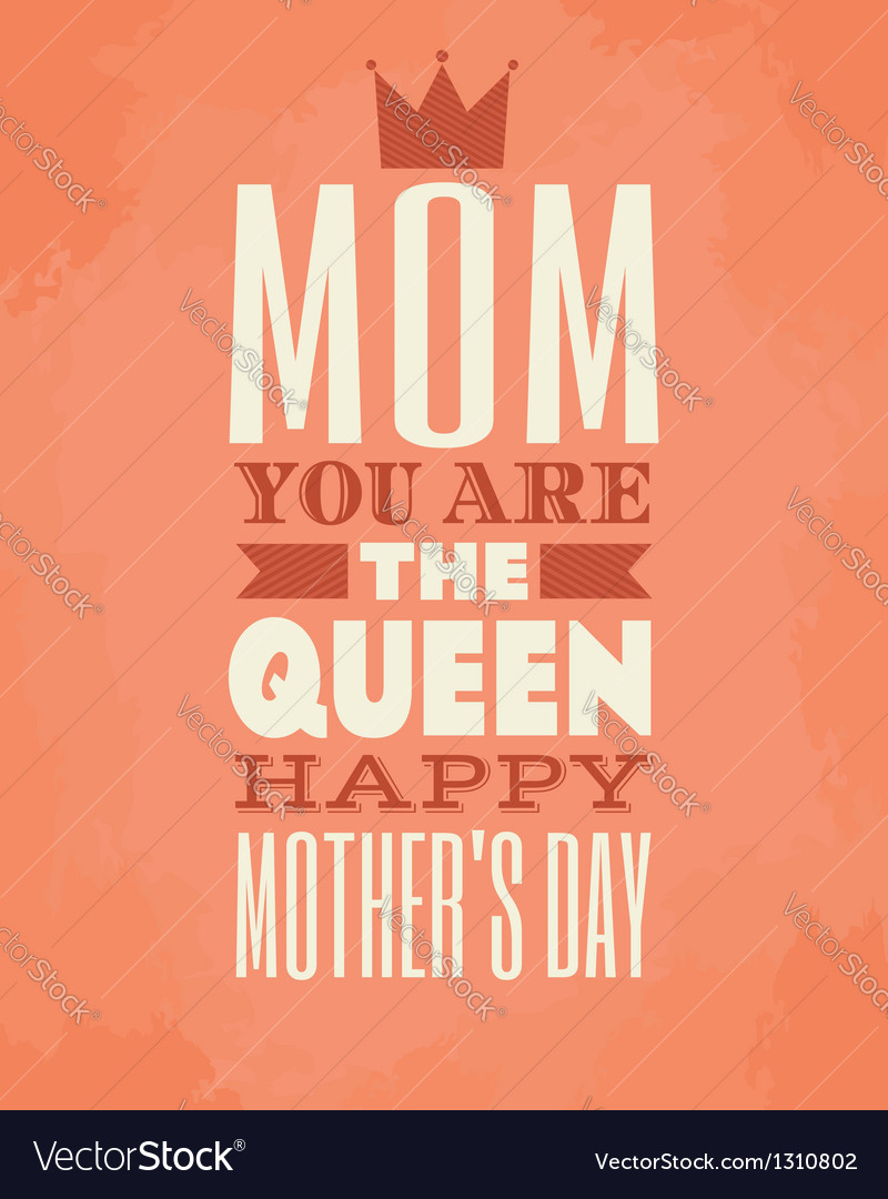 Mothers day card vector   Price: 1 Credit (USD $1)