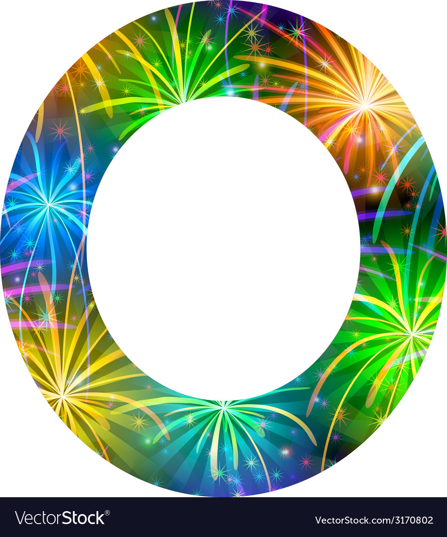 Number of colorful firework zero vector | Price: 1 Credit (USD $1)