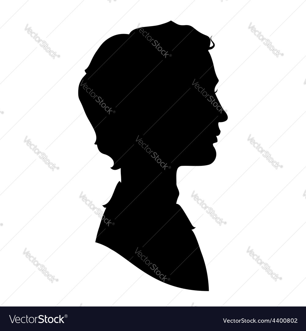 Profile silhouette of a handsome man vector | Price: 1 Credit (USD $1)