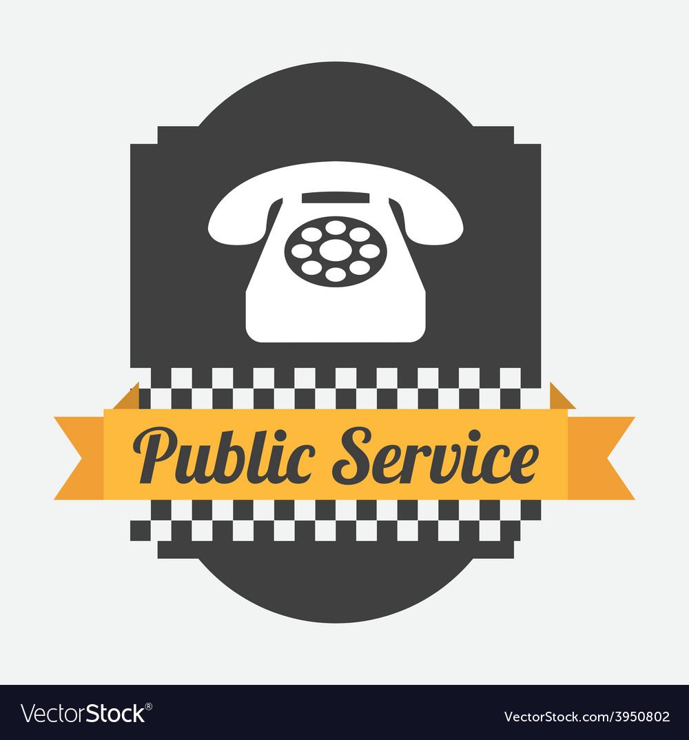 Public service vector | Price: 1 Credit (USD $1)