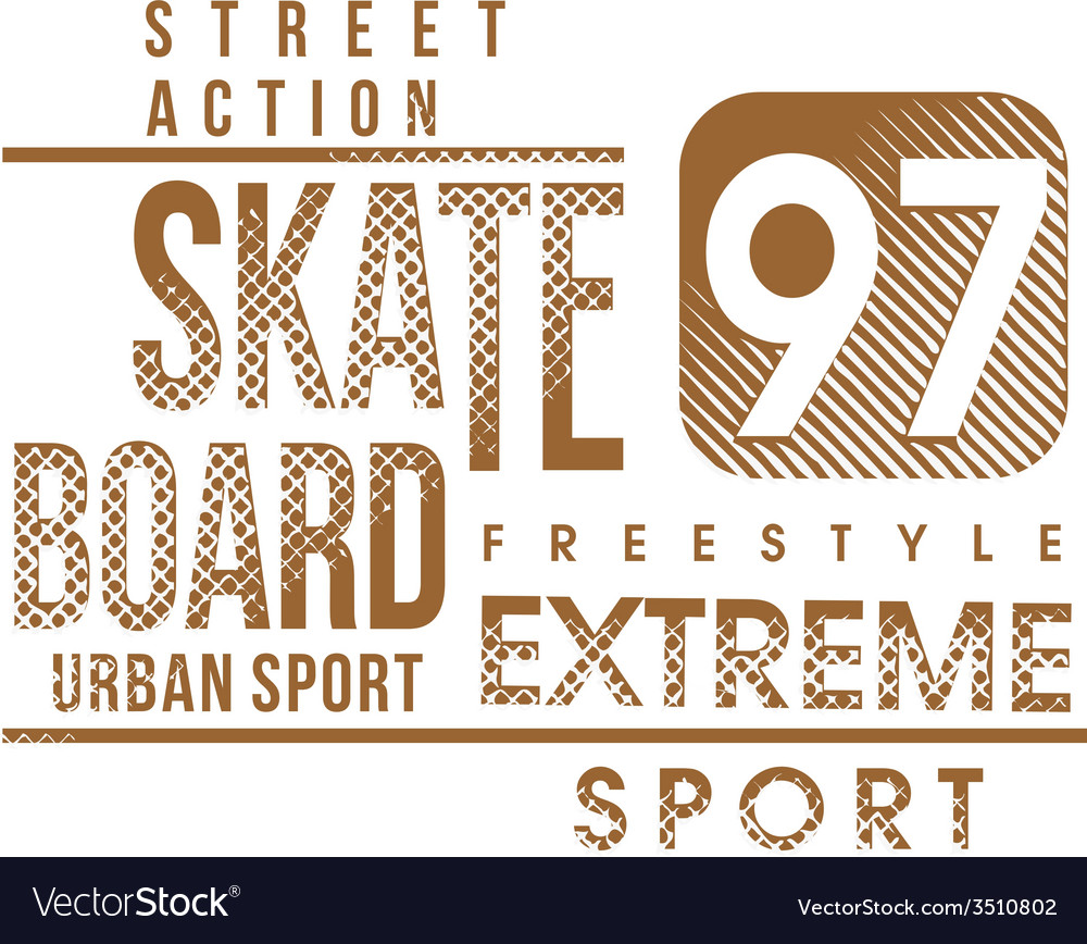 Skateboard text design vector | Price: 1 Credit (USD $1)