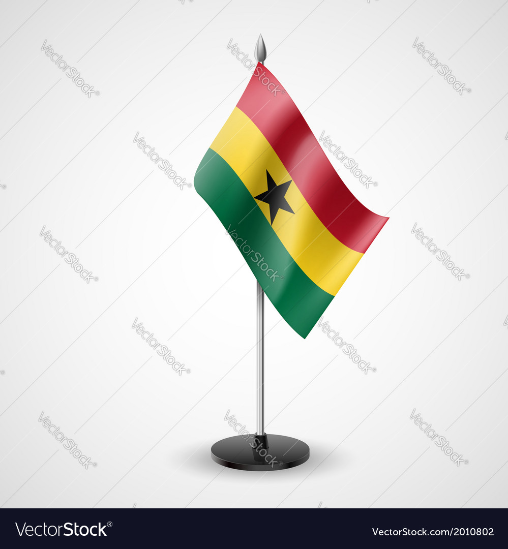 Table flag of ghana vector | Price: 1 Credit (USD $1)