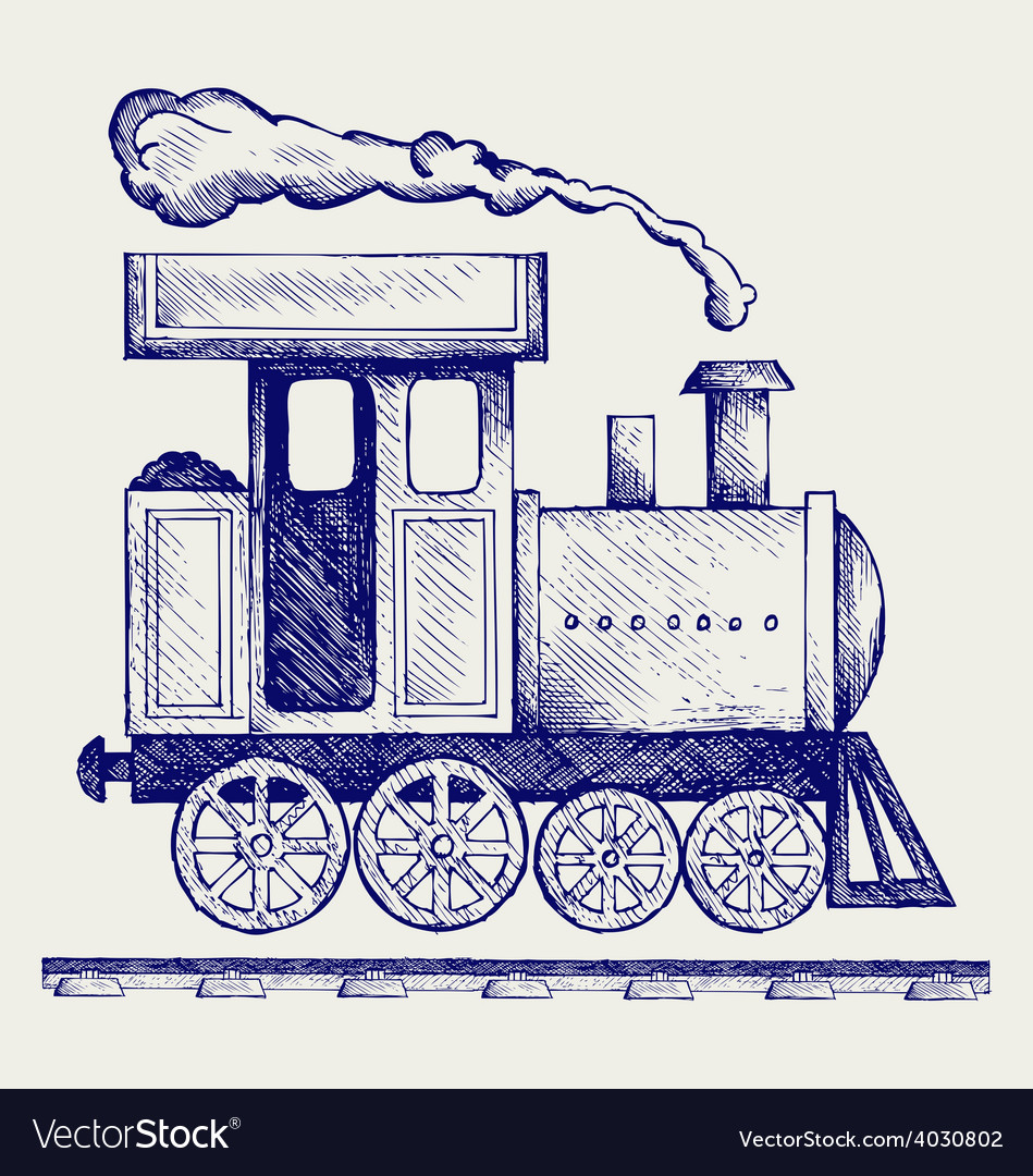 Wild west steam locomotive vector | Price: 1 Credit (USD $1)