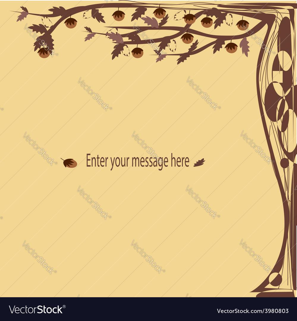 Brown fantasy cards tree vector | Price: 1 Credit (USD $1)